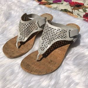 White Mountain Embellished Sandals